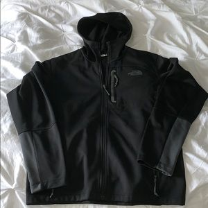 Hooded North Face zip up jacket